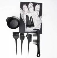 Kit Colorazione Capelli Tinta Guanti Ciotola Colore Pennello Pettine Tintura Professionale Parrucchiere Spazzola Hair Colouring Brush Bowl (Large)